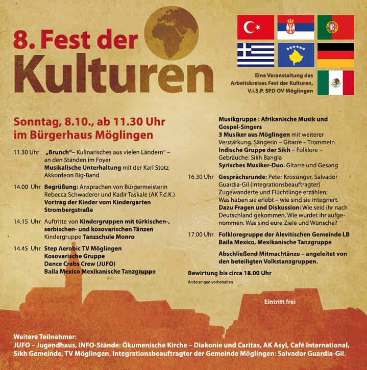 Flyer Fest der Kulturen 2017