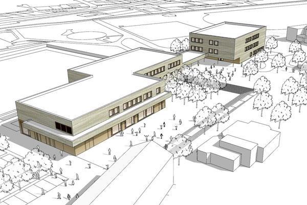 Neubau Gemeinschaftsschule mit öffentlicher Bücherei