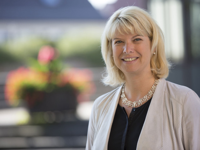 Bürgermeisterin Rebecca Schwaderer