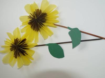 Sonnenblumen Seidenpapier