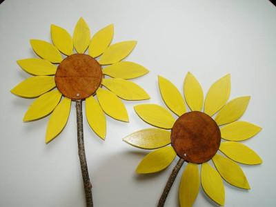 Sonnenblumen Holz