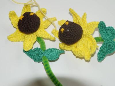 Sonnenblumen gehäkelt