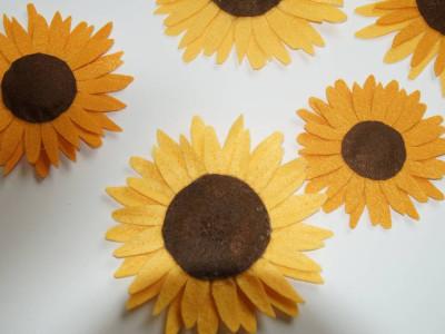 Sonnenblumen Filzstoff